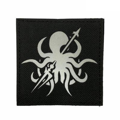 AK Abyssal Hunter Reflective Laser Cut Patch - Black-Tactical.com