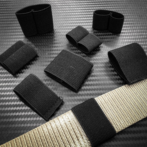 Tactical Flat Elastic Bungee Loops (4 pieces) - Black-Tactical.com