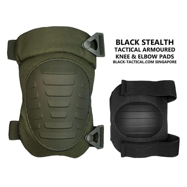 Black Stealth - Tactical Armoured Knee Pad (V3) - Black-Tactical.com