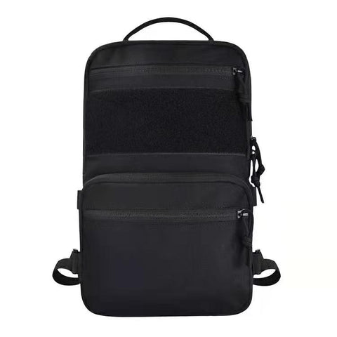 Black Stealth - Tactical Low Profile Expandable Backpack (Medium)