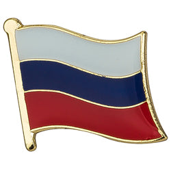 Collar Lapel Pin - Country Flag Russia