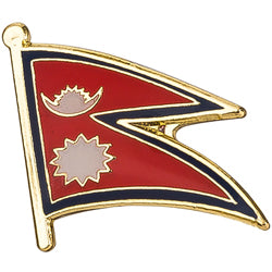 Collar Lapel Pin - Country Flag Nepal
