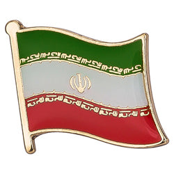 Collar Lapel Pin - Country Flag Iran