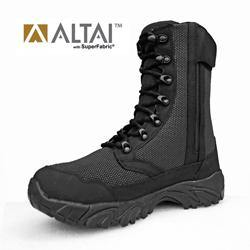"Altai - MF Super Fabric Tactical Boots 8"" (BK Fabric) Side Zip - Black-Tactical.com"