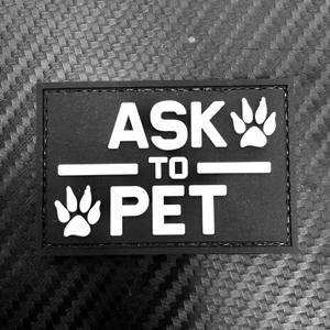 Rubber Patch - Ask to Pet - Black-Tactical.com
