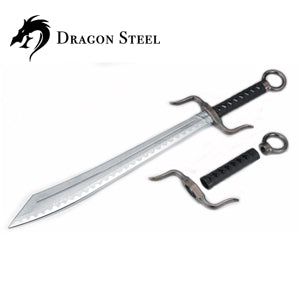 Dragon Steel - (CH-193P) Combat broadsword w/coated blade