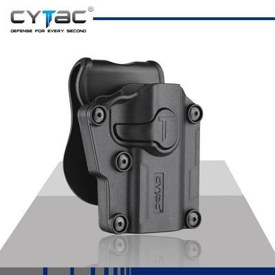 Cytac - CY-UHFS Mega Fit Universal Polymer FAST Pistol Holster - Black-Tactical.com