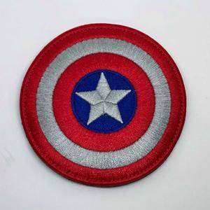 Embroidery Patch - Captain America Shield - Black-Tactical.com