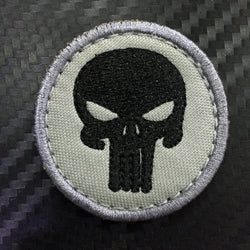 Embroidery Patch Velcro - Punisher Round