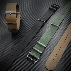 Genuine Leather Watch Strap 22mm - Black-Tactical.com