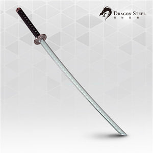 Dragon Steel - (J-014P) Samurai Katana  w/ silver coating