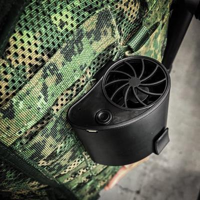 Black Stealth - LBV Molle Mounted Jet type Cooling Fan - Black-Tactical.com