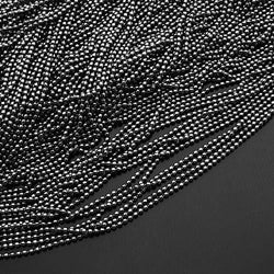 Metal Ball Chain Necklace (Black) (80cm)
