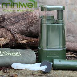 MiniWell - Personal Outdoor Water Filter Pump (L610) - Black-Tactical.com