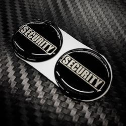 Retracting Lanyard Sticker (2pc) - Black-Tactical.com