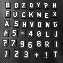 Rubber Patch - Alphabets & Characters