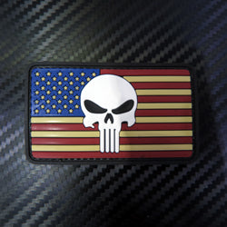 Rubber Patch - US Flag Punisher