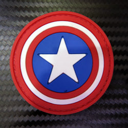 Rubber Patch - Captain America (Small)
