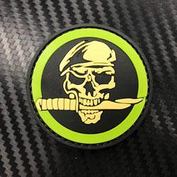 Rubber Patch - Commando Skull Knife