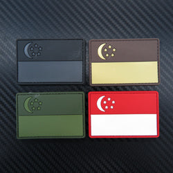 Rubber Patch - Flag Singapore