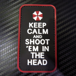 Rubber Patch - Keep Calm and Shoot Head