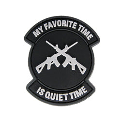 Rubber Patch - My Fravouite time is Quiet Time