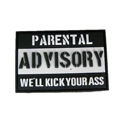 Rubber Patch - Parental Advisory (We'll Kick Your Ass)