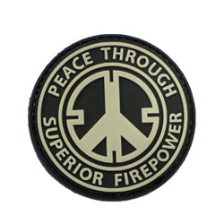 Rubber Patch - Peace through Superior Firepower