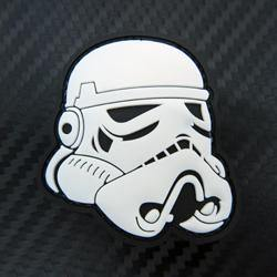 Rubber Patch - Stormtrooper Helmet - Black-Tactical.com