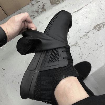 Silicone Slip on Waterproof Shoe Condom (Black) - Black-Tactical.com