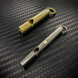 Stainless Steel / Brass SOS Whistle