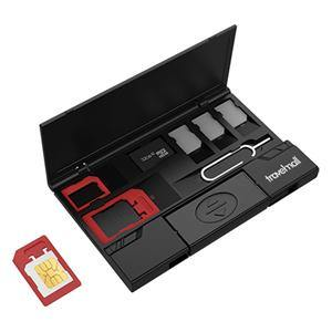 Travelmall - Multi Storage SiM Card Organizer - Black-Tactical.com