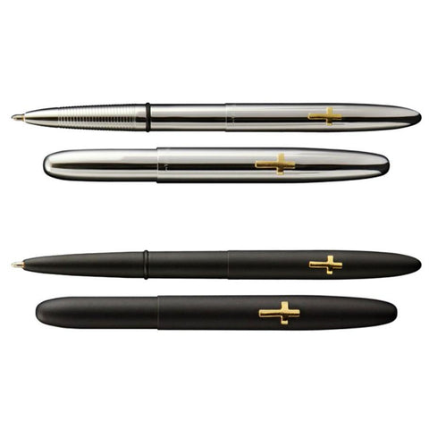Fisher - Bullet Space Pen (Gold Cross) 600CR - Black-Tactical.com