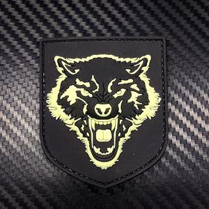 Rubber Patch - Wolf Head - Black-Tactical.com