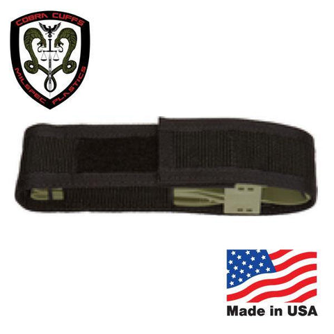 MilSpec Plastics - Cobra Cuff Sheath Nylon (Fits 2 Cuffs) - Black-Tactical.com