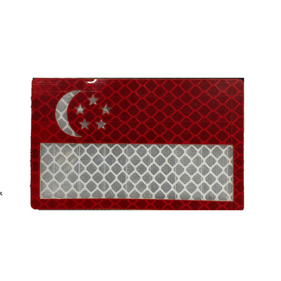 Reflective Patch -  Singapore Red