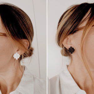 Southwest Stud Acrylic Earrings - Pair