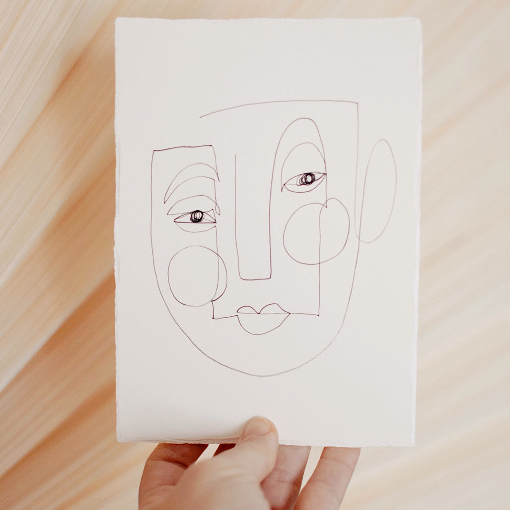 Face Line Drawing - Hayes Print