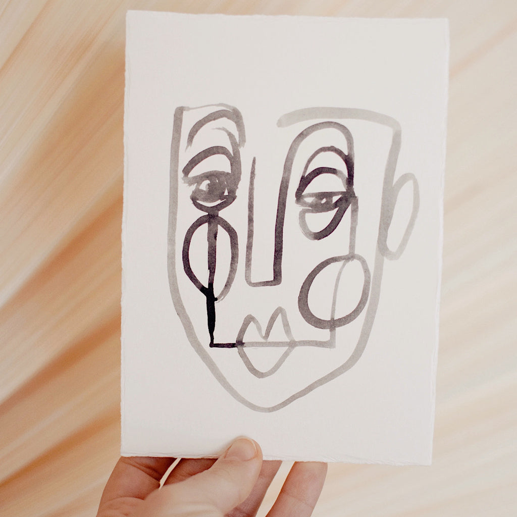 Face Line Drawing - Jackson Print