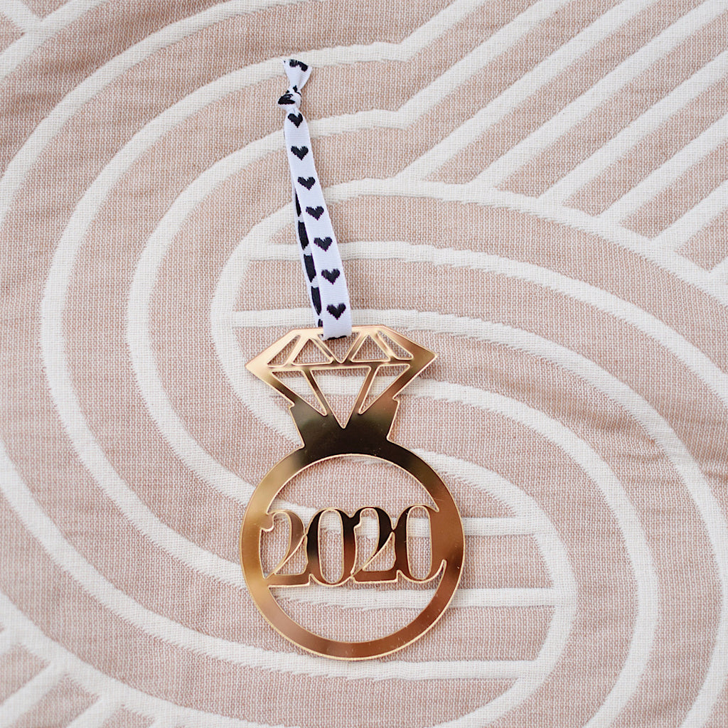 Diamond Ring 2020 Holiday Ornament