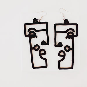 Funky Face Earrings - Pair