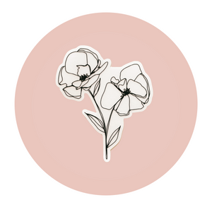 A Simple Set Floral Sticker - Clear