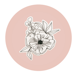 Floral Arrangement Sticker - Clear