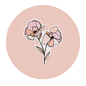 A Simple Set Floral Sticker - Color