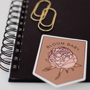 Bloom Baby. Banner Sticker