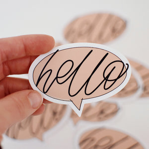 Hello Conversation Bubble Sticker