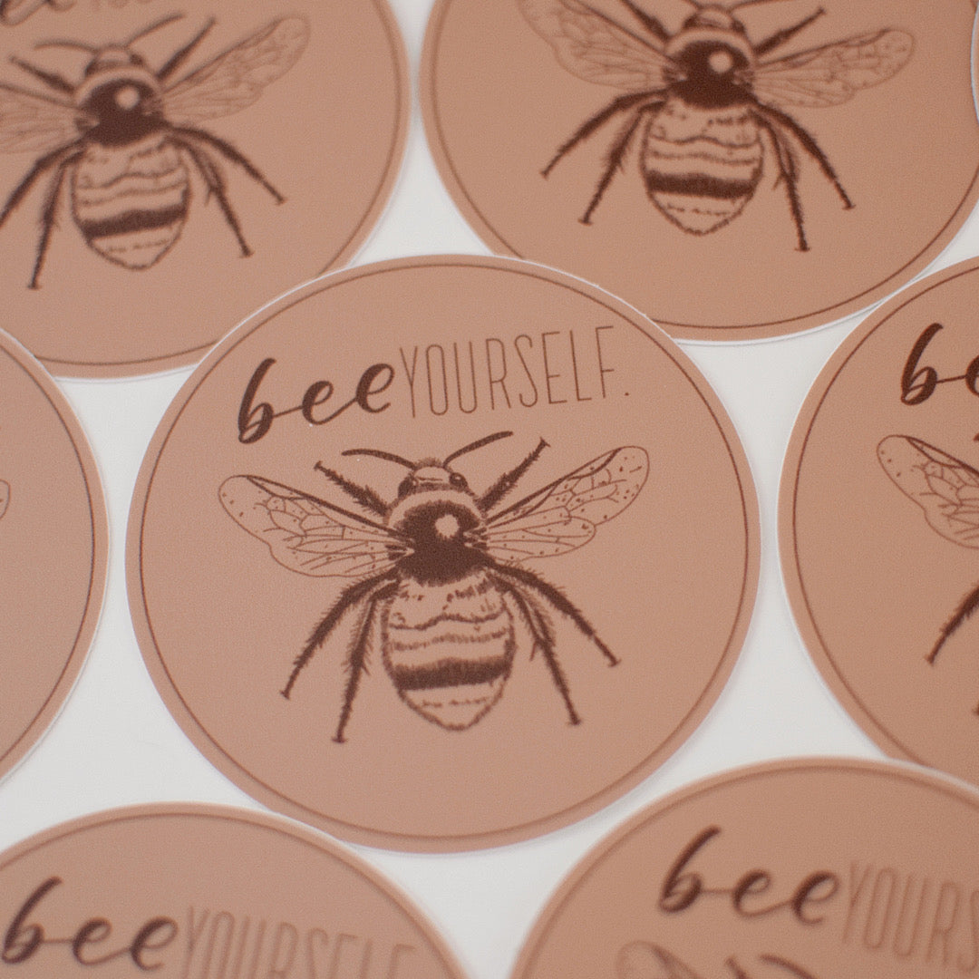 BEE Yourself Bumble Bee Sticker