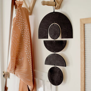 Geometric Wooden Shapes Wall Hanging - 2 Sizes
