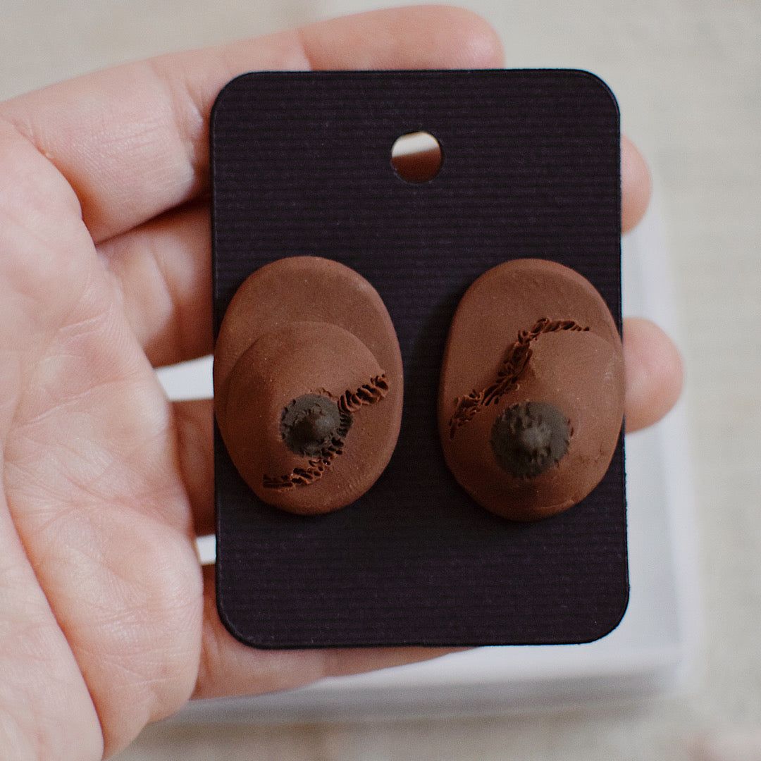 Tata Post Earrings - Pair 44