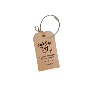 Custom Name & Address Luggage Tag